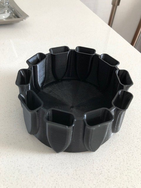 Make It By Marko Brush Caddy-Ring Toss Black