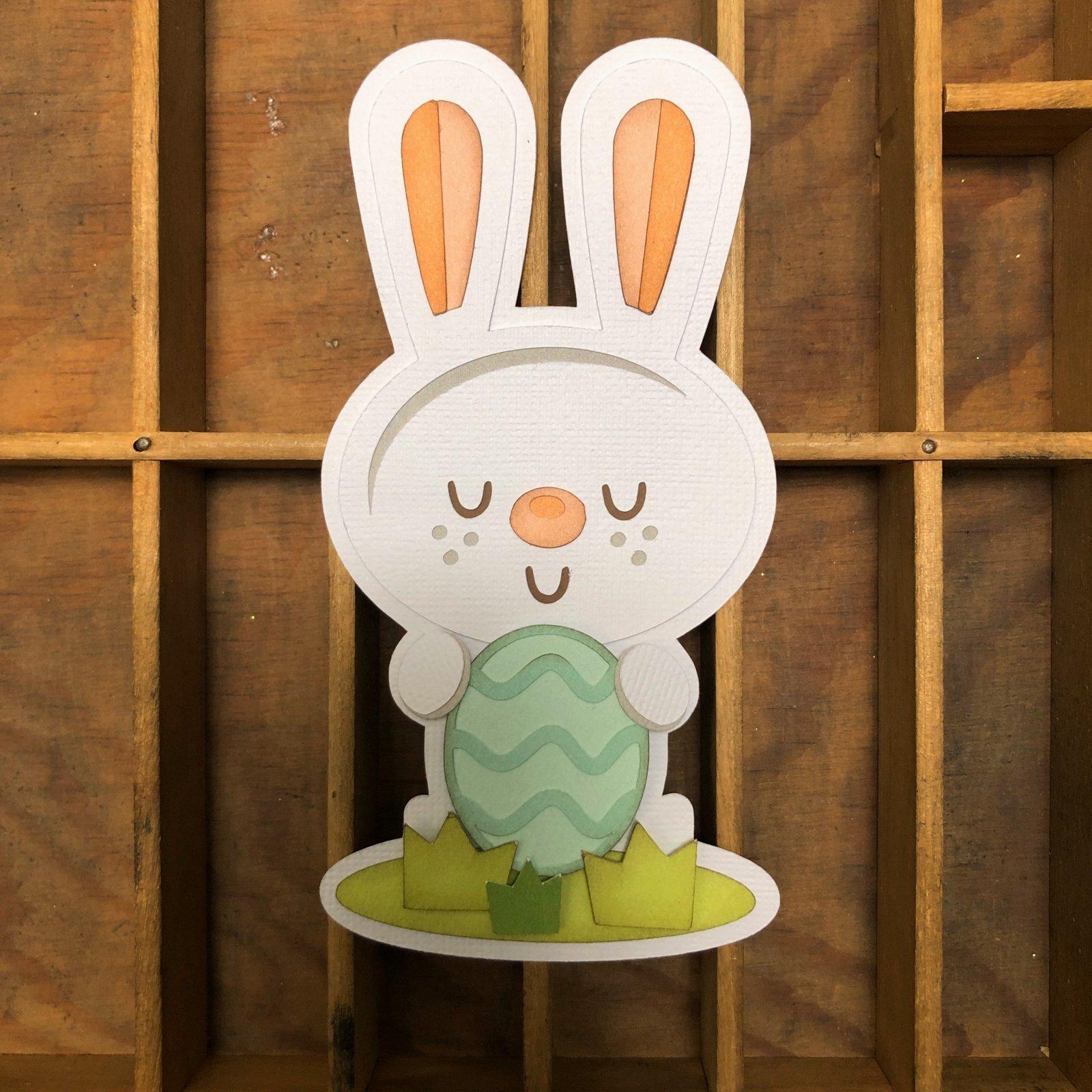 Custom Die-cut-Easter Bunny
