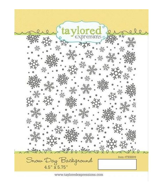 Taylored Expressions-Snow Day Background Stamp