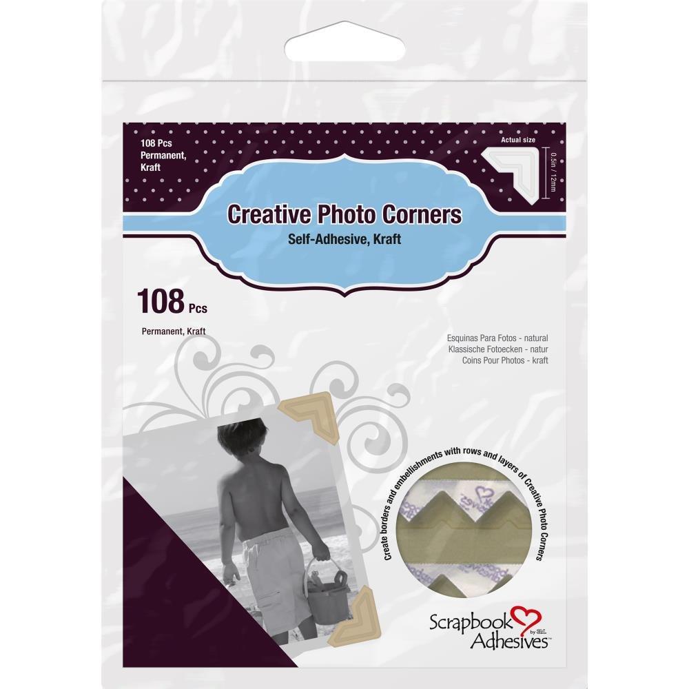 Scrapbook Adhesive Photo Corners-Kraft
