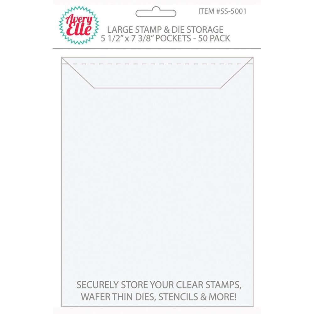 Avery Elle Stamp And Die Storage Pockets-Large