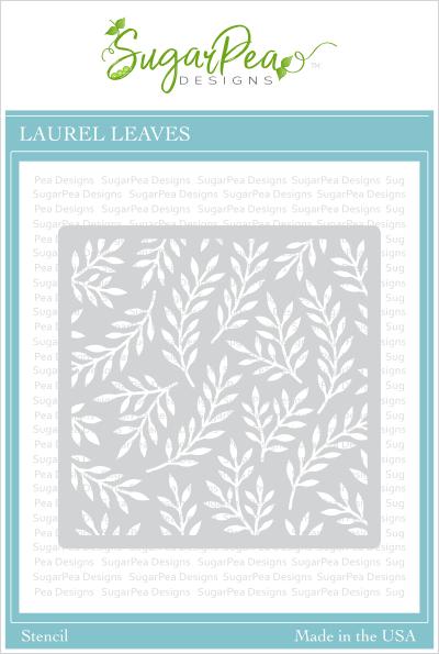 Sugarpea Designs Stencil-Laurel Leaves