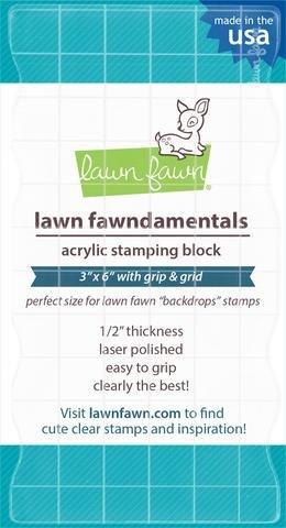 Lawn Fawn-Acrylic Block 3 x 6