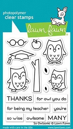 Lawn Fawn-So Owlsome Stamp & Die Bundle