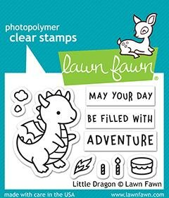 Lawn Fawn-Little Dragon Stamp