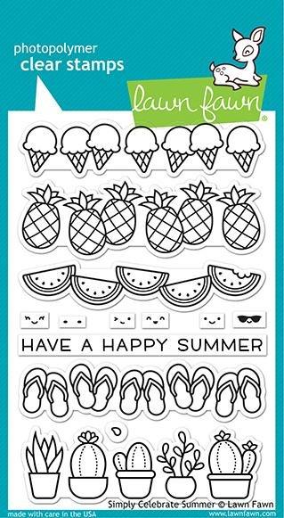 Lawn Fawn-Simply Celebrate Summer Stamp & Die Bundle