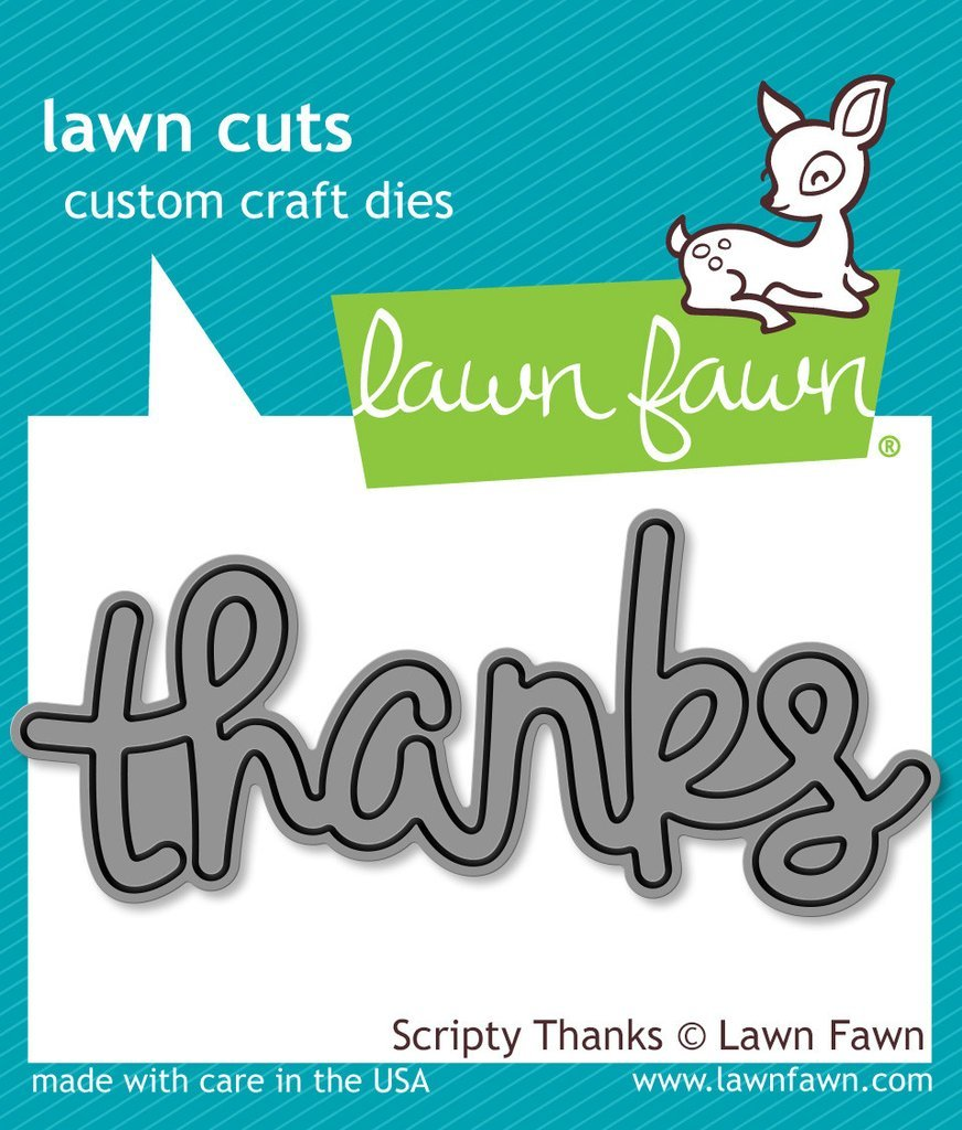 Lawn Fawn-Scripty Thanks Die