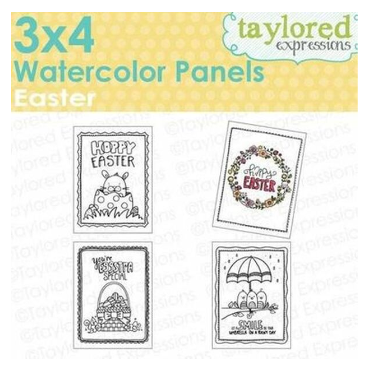 Taylored Expressions 3x4 Watercolor Panels-Easter