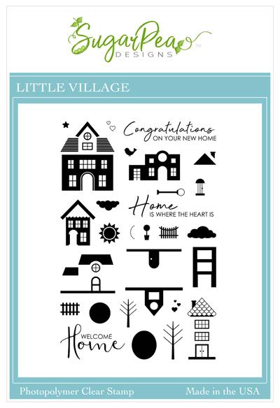 SugarPea Designs-Happy Little Village Stamp & Die Bundle