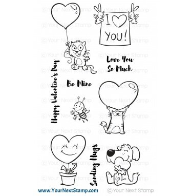 Your Next Stamp-Love And Hugs Stamp
