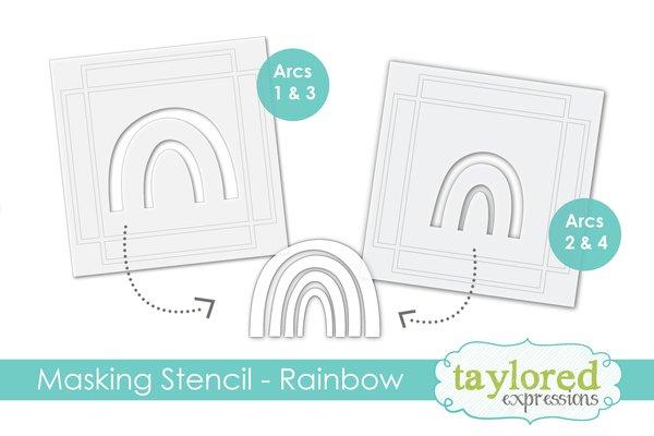 Taylored Expressions Masking Stencil-Make A Rainbow