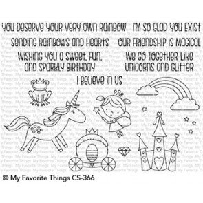 My Favorite Things-Rainbows & Unicorns Stamp & Die Bundle