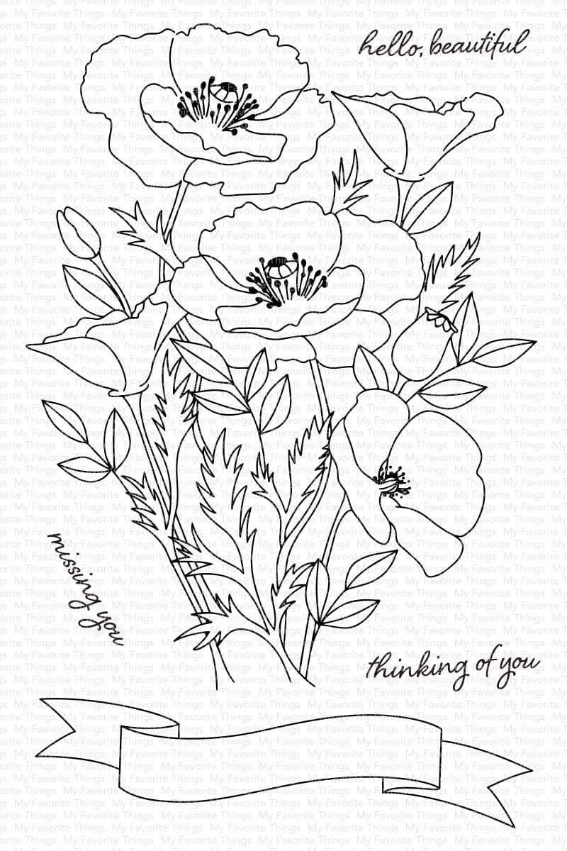 My Favorite Things-Wild Poppies Stamp & Die Bundle