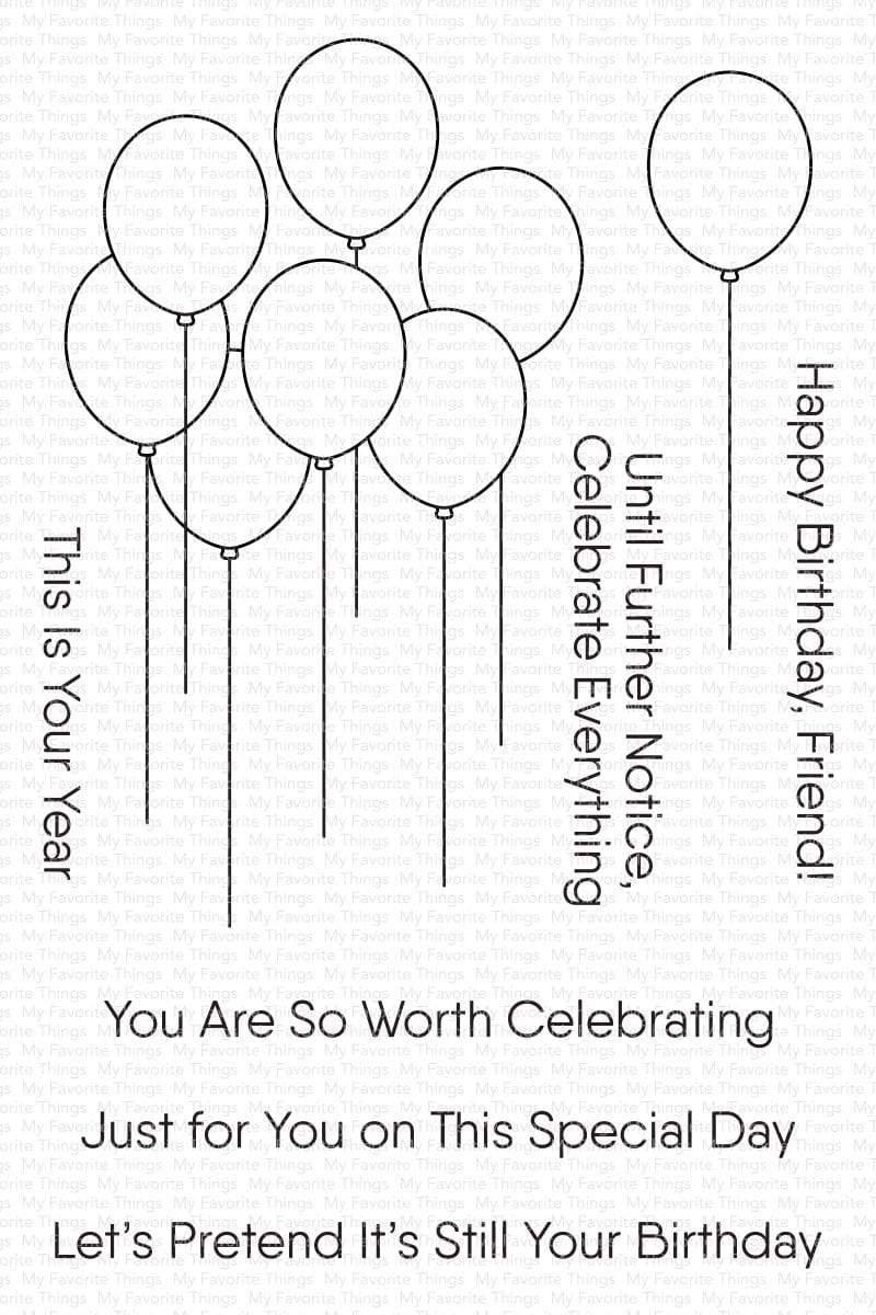 My Favorite Things-Balloon Bouquet Stamp & Die Bundle