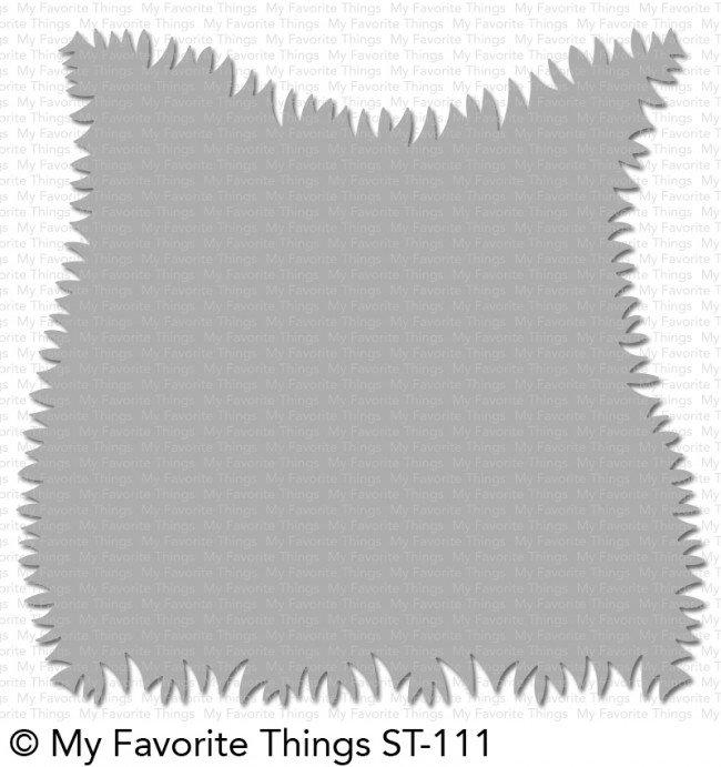 My Favorite Things Stencil-Grassy Edges