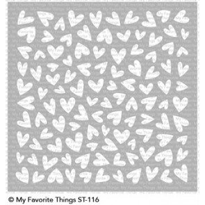 My Favorite Things Stencil-Lots Of Heart