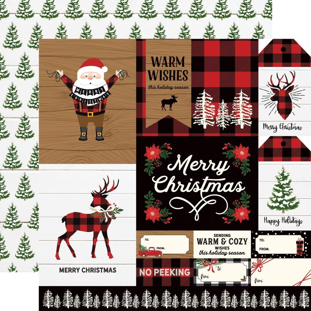 A Lumberjack Christmas-Multi Journaling Cards