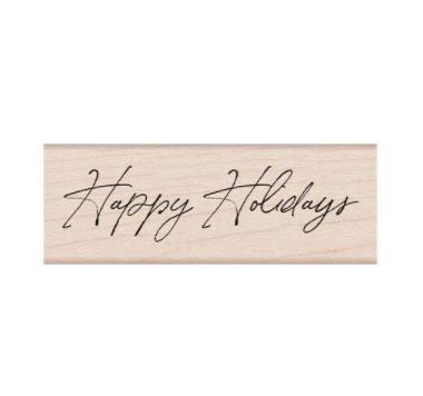 Hero Arts-Handwritten Happy Holidays Stamp