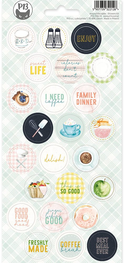 Around The Table Cardstock Sticker-03