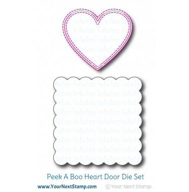 Your Next Stamp-Peek A Boo Heart Door Die
