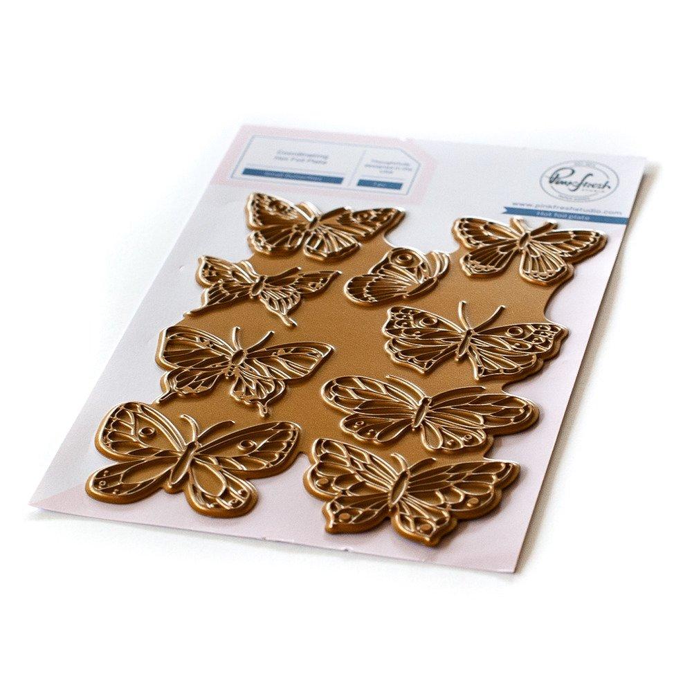Pinkfresh Studio Hot Foil Plate-Small Butterflies