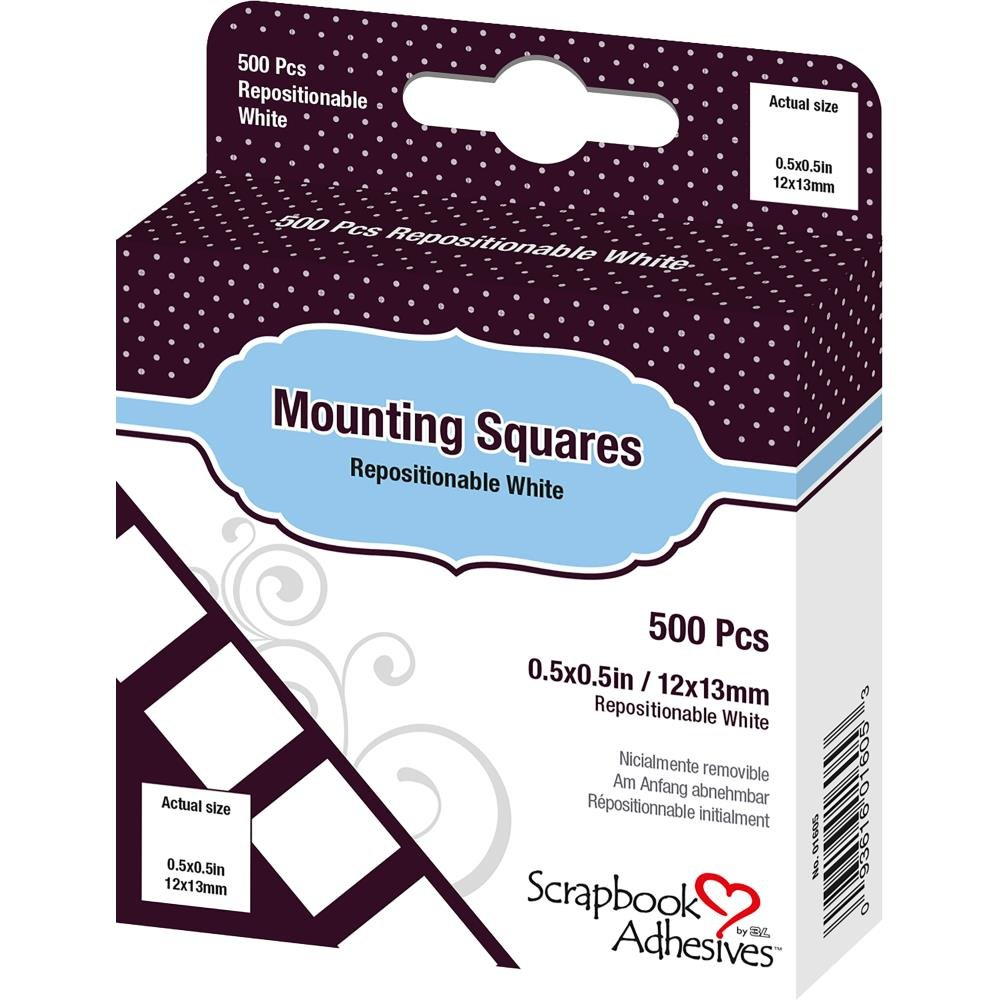 Scrapbook Adhesives-Repositionable Mounting Squares (500/Pk)
