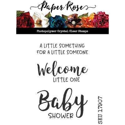 Paper Roses-Baby Sentiments One Stamp