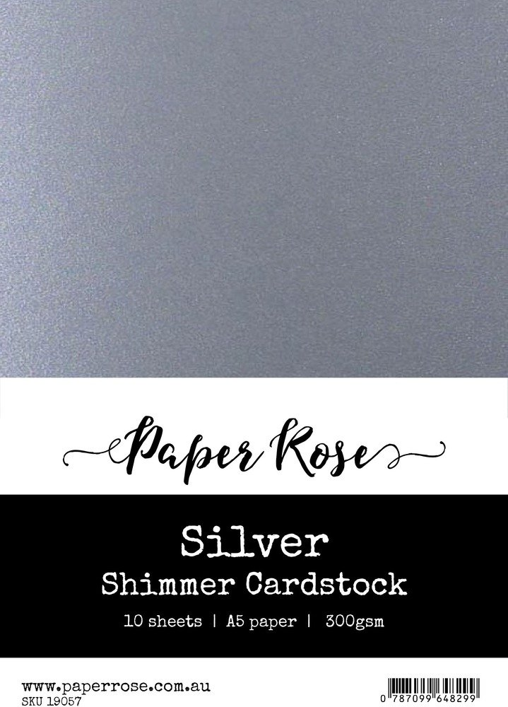 A5 Shimmer Cardstock-Silver (10pc)