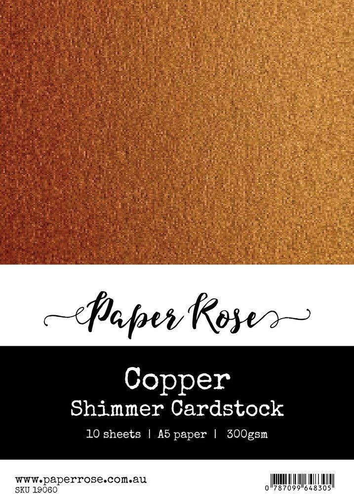 A5 Shimmer Cardstock-Copper (10pc)