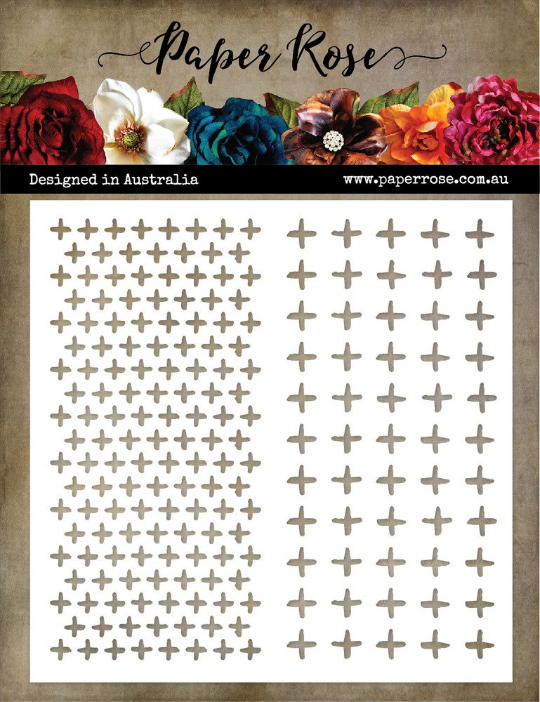 Paper Roses Stencil-Cross Texture
