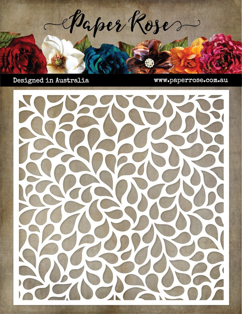 Paper Roses Stencil-Small Drops