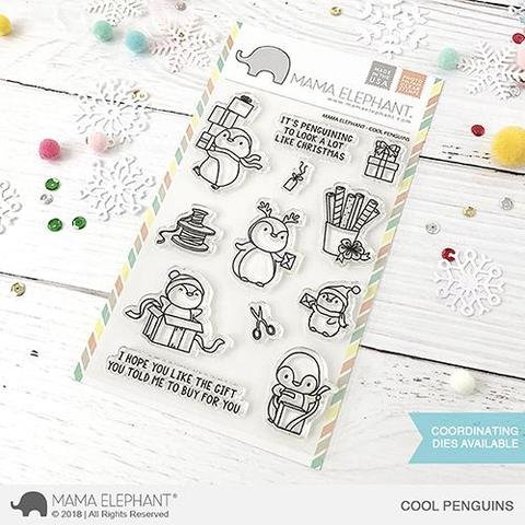 Mama Elephant-Cool Penguins Stamp & Die Bundle
