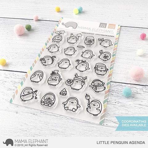 Mama Elephant-Little Penguin Agenda Stamp & Die Bundle