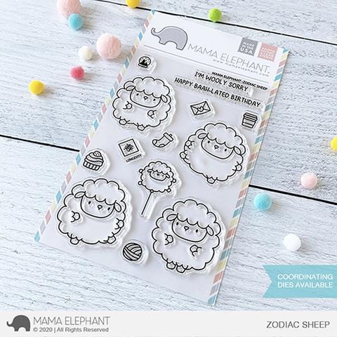 Mama Elephant-Zodiac Sheep Stamp & Die Bundle