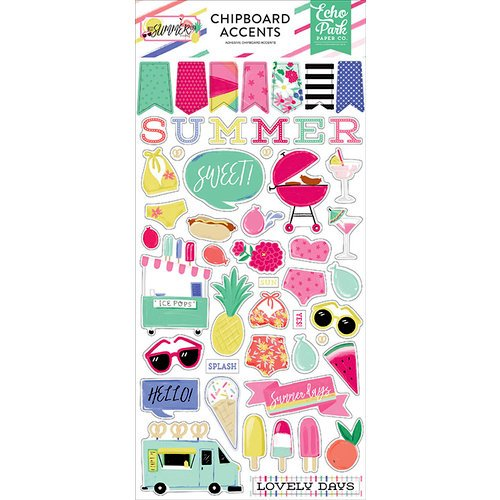Best Summer Ever Chipboard-Accents