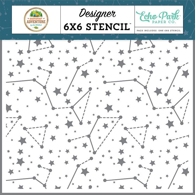 Summer Adventure Stencil-Sky Constellations
