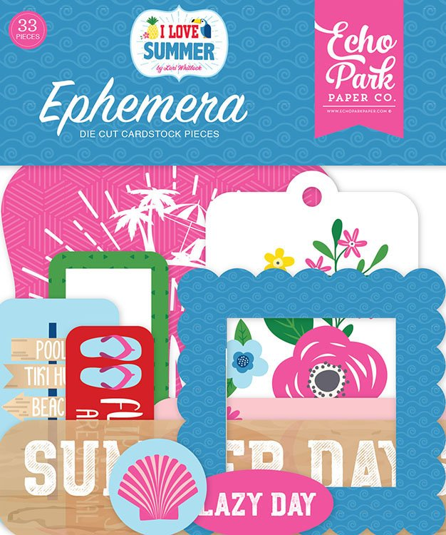 I Love Summer Ephemera-Icons