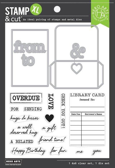 Hero Arts-Library Card XL Stamp & Die