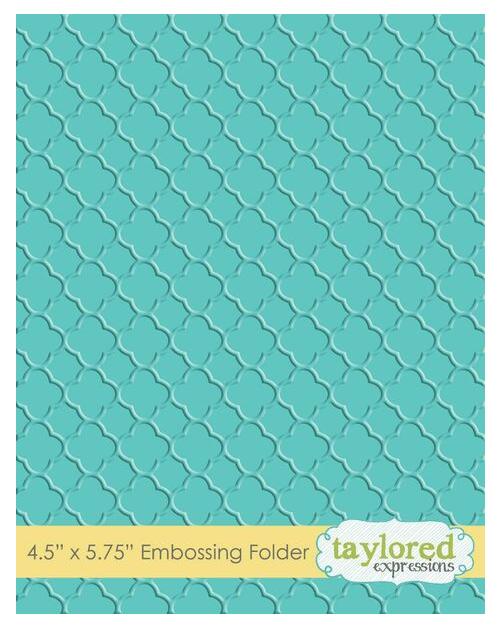 Taylored Expressions Embossing Folder-Quatrefoil