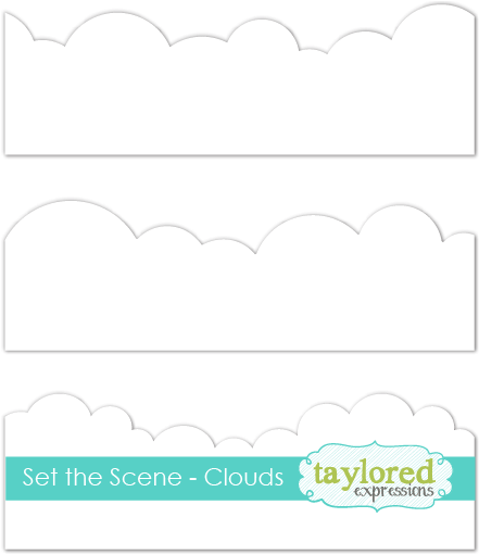 Taylored Expressions Stencil-Set The Scene Clouds