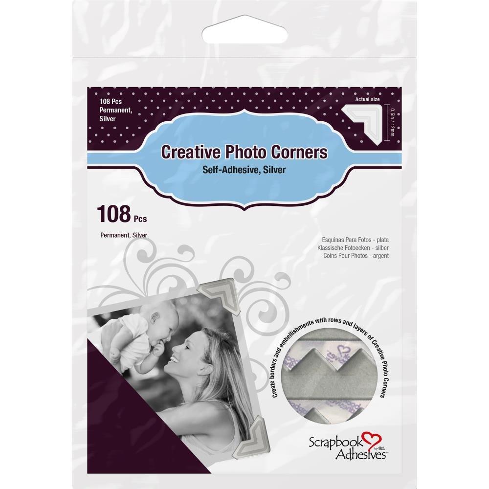 Scrapbook Adhesives Photo Corners-Silver