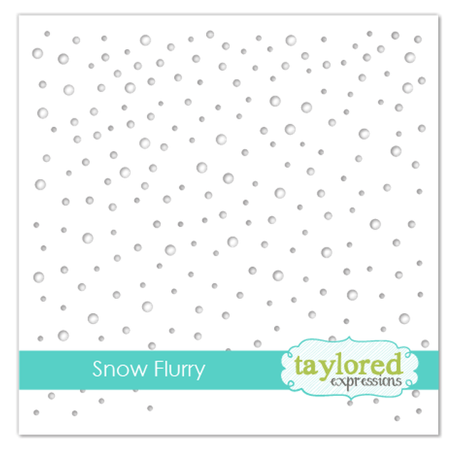 Taylored Expressions Stencil-Snow Flurry