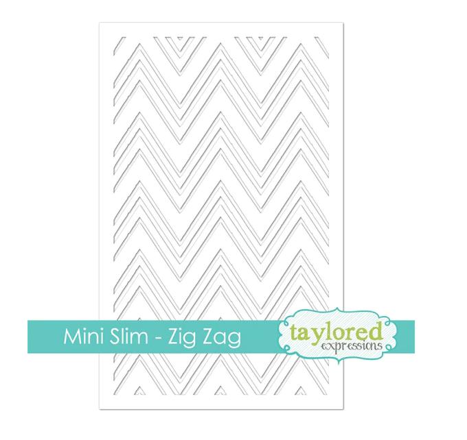 Taylored Expressions Mini Slim Stencil-Zig Zag