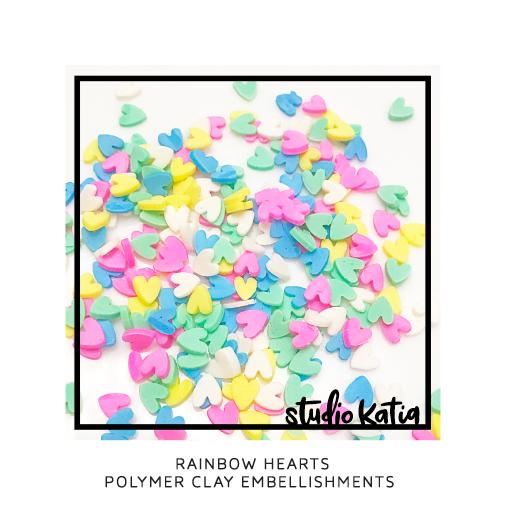 Studio Katia Polymer Clay-Rainbow Hearts