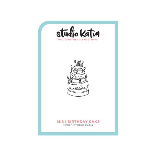 Studio Katia-Mini Birthday Cake Stamp & Die Bundle
