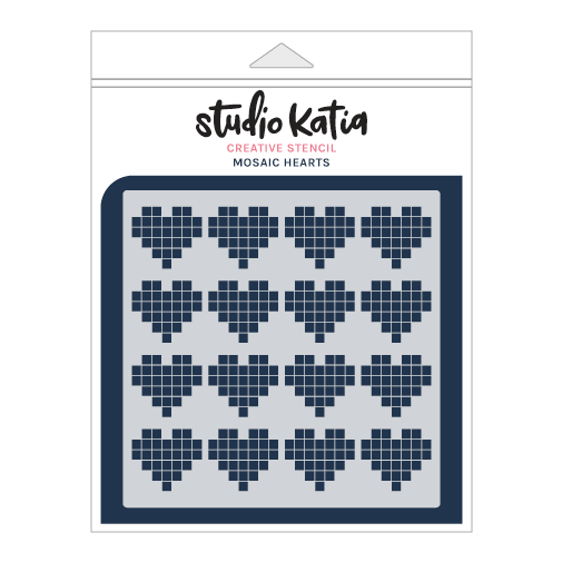 Studio Katia Stencil-Mosaic Hearts