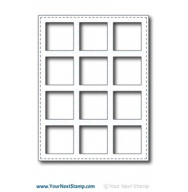 Your Next Stamp-So Many Squares Panel Die