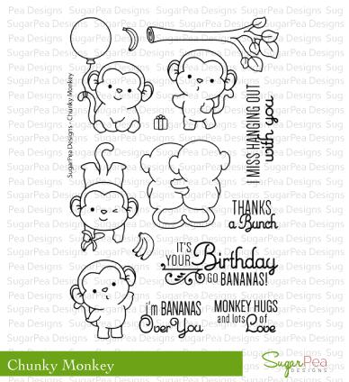 SugarPea Designs-Chunky Monkey Stamp & Die Bundle