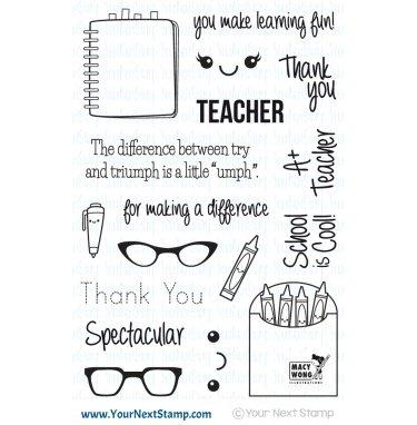 Your Next Stamp-Spectacular Teacher Stamp & Die Bundle