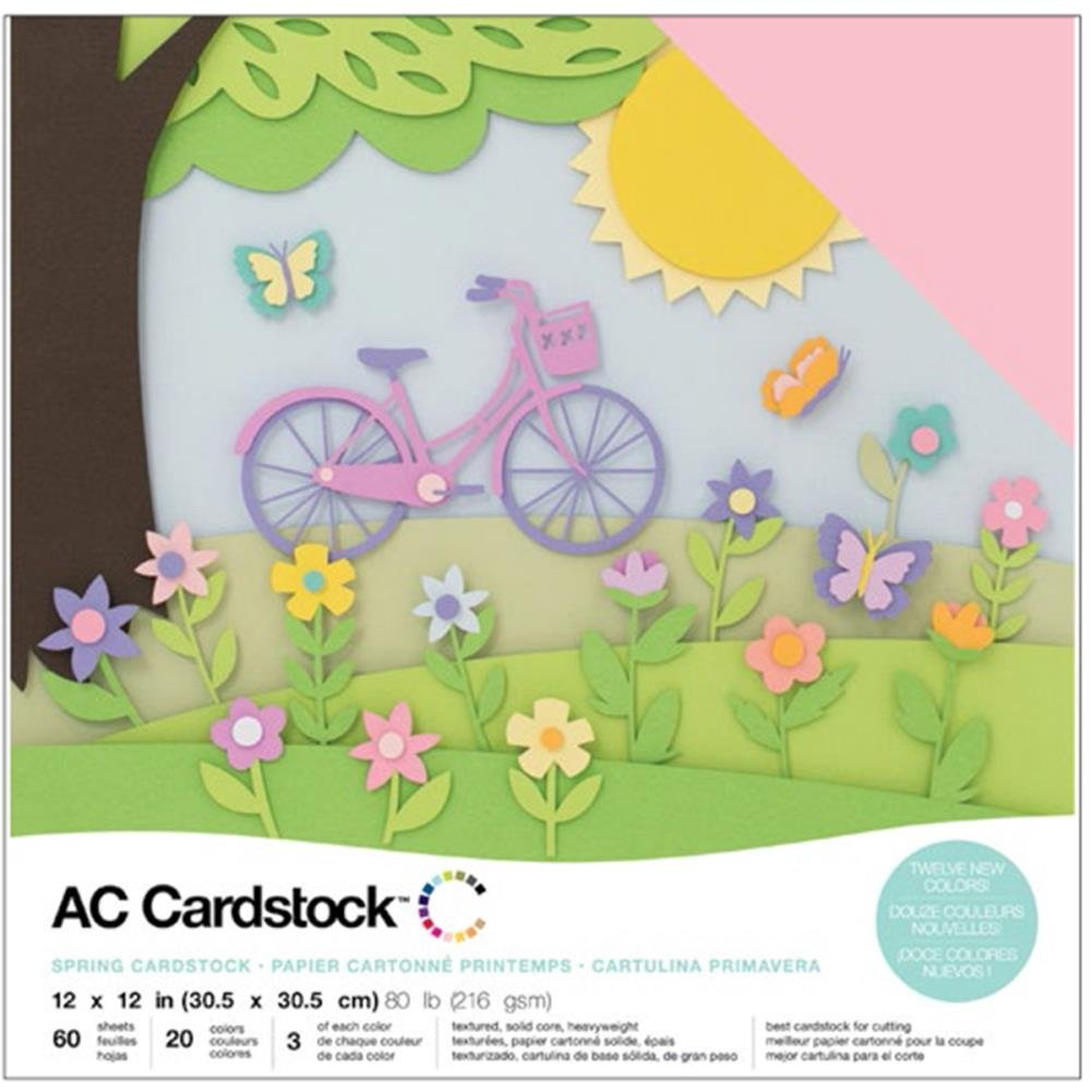 American Crafts Cardstock-Spring